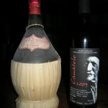 Fiasco con etichetta riprodotta sulla base di quelle di fine '800 primi '900 per il Sudafrica | Bottiglia del 2009