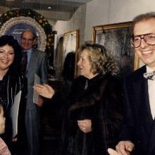 1985 - inaugurazione della galleria a Lucca: Lorenzo Pacini e la moglie Rosangela