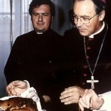 Visita del Papa Giovanni Paolo II alla pasticceria Tadducci