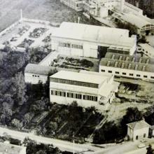 1970 - Capannone pre-assemblaggio - Vista dall'alto