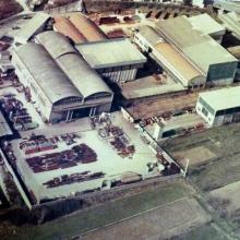 1975 - Capannone pre-assemblaggio - Vista dall'alto
