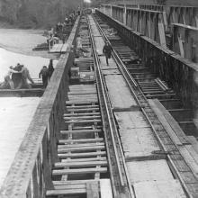 Ponte della ferrovia sul fiume Sinno - Linea FF.SS Taranto Reggio C.