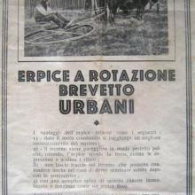 L'erpice a rotazione -  brevetto Urbani