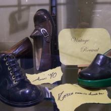 Modelli calzature anni '70 della collezione del titolare