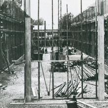 Cantiere in costruzione delle officine