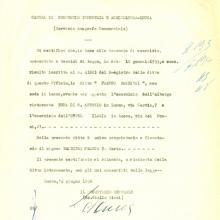 1956: Certificato di iscrizione alla Camera del Commercio di Lucca