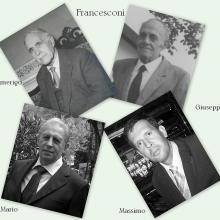 Alcuni proprietari della falegnameria Francesconi