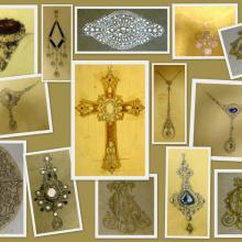 Antichi disegni di gioielli