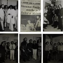 Coluccini con artisti internazionali durante gli anni della carriera musicale