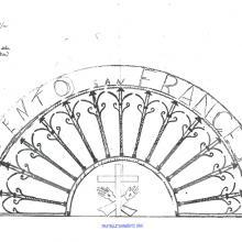 Disegno del progetto di lostra del convento di San Francesco
