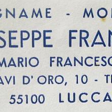 Ditta Francesconi Giuseppe - carta intestata