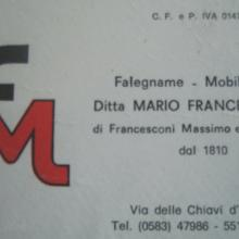 Ditta Francesconi Mario - carta intestata