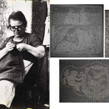 Leontina Mazzocchi e alcune sue lavorazioni tipiche artigianali