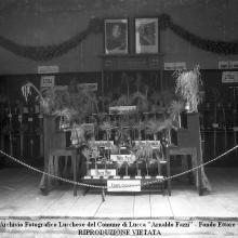 Terza biennale campionaria di Lucca: stand della Tenuta di Forci dei Conti Giustiniani. Cortile degli Svizzeri - Lucca 1926.