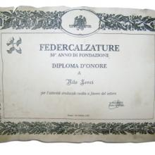 Diploma d'onore di Federcalzature per 50 anni di attività