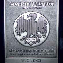 Premio Fenacom a Nilo Lenci come Maestro del Commercio
