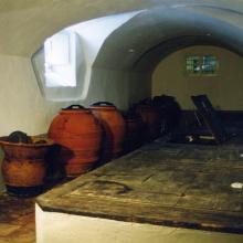 Coppaio - coppi per olio e antiche vasche per olio del '700 foderate in lavagna descritto da George Christoph Martini