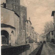 Fossi scoperti e antica Porta dell'Annunziata - Cartolina del 1929