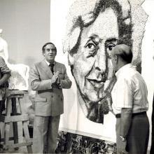 Ferrari e Bacci negli studi RAI con Romano Battaglia - 1982