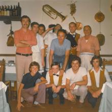 Giuliano, Franco e lo staff - anni 70