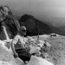 Henry Moore alle cave Cervaiole dell'Henraux sul Monte Altissimo, primi anni Sessanta