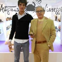 Nicolò Gori con il nonno Pier Giorgio al MICAM di Milano