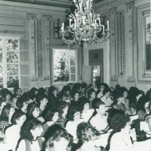 Interni Villa Sardi durante incontro studenti