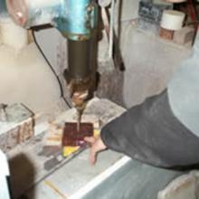 Trapano con punte a Vidia o a Diamante per la foratura di basi e cubi di marmo