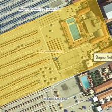 Mappa area attualmente in uso al Bagno Nettuno