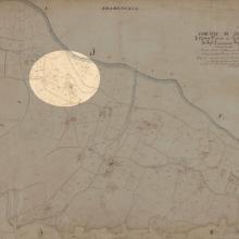 Mappa catastale 1860: in evidenza la zona dove sorgeva la tenuta