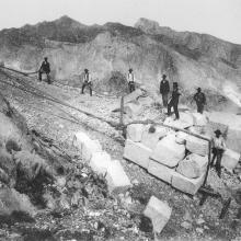 Monte Altissimo, la lizzatura (circa 1908)
