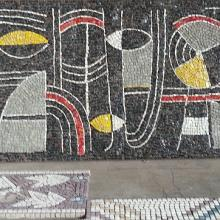 Mosaico realizzato da Fabiano Favret nel 1960 sulla base del bozzetto dell'anno prima