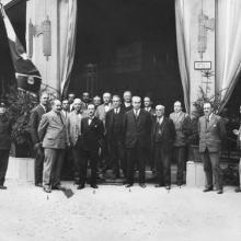 I fondatori della Salov alla Fiera Campionaria di Lucca, fine anni '20
