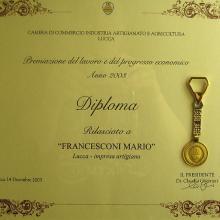 Premiazione Fedeltà al lavoro Francesconi Mario 2003