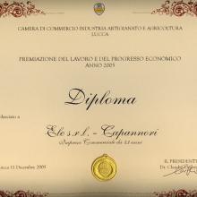 Premiazione Fedeltà al lavoro della Camera di Commecio di Lucca del 2005