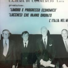 Premiazione Camera di Commercio di Lucca 1980
