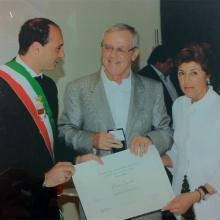 Premio fedeltà al lavoro consegnato a Dino Arnoldo