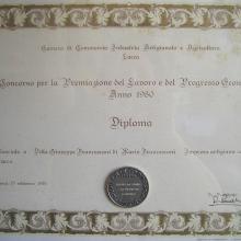 Premiazione Fedeltà al lavoro Francesconi Giuseppe 1980