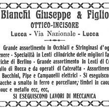 Pubblicità sulla stampa - anno 1906