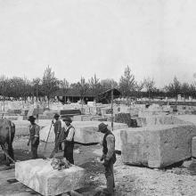 Querceta, deposito di brecce all'Henraux, circa 1908