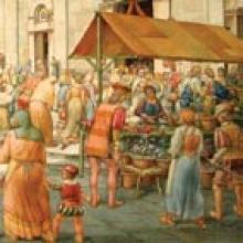 Il mercato in piazza San Michele - Vincenzo Barsotti